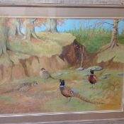 •Ralston Gudgeon R.S.W. (Scottish, 1910-84), Pheasants in a Woodland Landscape, watercolour,