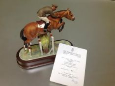 A Royal Worcester porcelain limited edition model of Merano with Capt. Raimondo d'Inzeo, modelled by