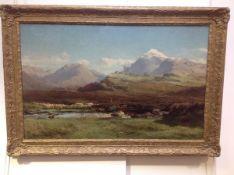 """David Farquharson A.R.A.,A.R.S.A.,R.S.W., R.O.I. (Scottish, 1840-1907), """"Glenorchy's Pond..."""" signed"""
