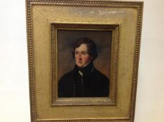English School, c. 1825, Portrait of Captain Charles James Hope Johnstone R.N., unsigned, oil on