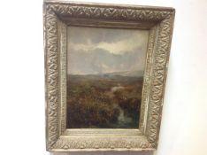 "British School, 19th century, A Moorland Landscape, monogrammed ""JCB"" lower left, oil on canvas,"