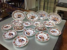 A Derby Imari dessert or fruit service, c. 1820, in a Tree of Life pattern, comprising a pair of