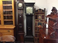 A Scottish mahogany longcase clock, late 18th century, the square brass dial signed James Brown,