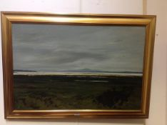 Alan Turner (Scottish, 20th Century), Estuary near Bowmore, Islay, signed lower right, oil on board,