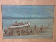 """Scottish School, c. 1920, """"A Memorable Cruise on The Beryl""""signed and dated lower left, bearing"""