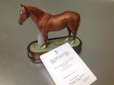 A Royal Worcester porcelain limited edition model of Hyperion, modelled by Doris Lindner, mounted on