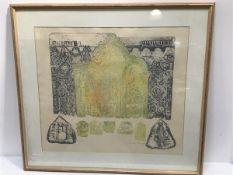 Bridget Tempest, Celtic and Norman friezes, engraving, signed 10/30 (55cm x 63cm excluding frame)