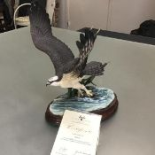 A Border Fine Arts Classic Osprey, no. 208/500, designed by Ray Ayres, master sculptor and John H