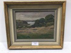 D Seaward, Coastal Scene in Cornwall, oil on panel, signed (15cm x 20cm)