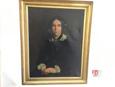 A 19thc Portrait of Mrs Ferrier, Governess to Hopetoun House, oil on canvas, unsigned (80cm x 62cm