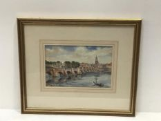 MM Way, Berwick upon Tweed, watercolour, signed (15cm x 23cm excluding mount and frame)