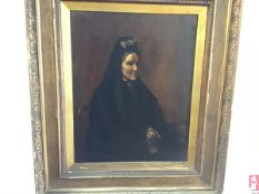A Portrait of Mrs Edward Carnegie, oil on canvas, painted from a photograph, signed Allan Ramsay