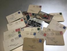 A collection of 1940s envelopes with postal stamps, Scottish Industries Exhibition, Glasgow 17th