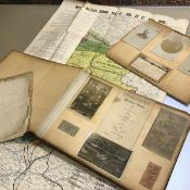 A World War British Battles and Their Effects Map and a World War I photograph album, for the