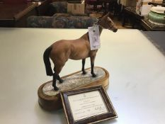 A Royal Worcester limited edition porcelain model of Arkle, owned by the Duchess of Westminster,