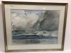 Unknown artist, Landscape, 10.30am 28.05.82 (55cm x 74cm)