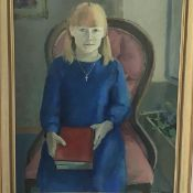 T. Gourlay, Portrait of a Young Girl, oil on canvas, signed and dated '86 (75cm x 60cm excluding