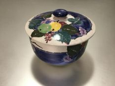 Catherine Blair for Mak' Merry Studio, a Scottish pottery bowl and cover, early 20th century, the