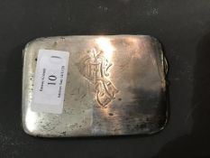 A hallmarked silver cigarette case (5.1oz)