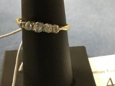 A five stone diamond ring on 18ct band (R) (2.4g)