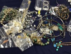 A mixed lot of jewellery including white metal necklaces, marked 925, pendants, rings, chains