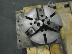 "12"" Engine Lathe 3 Jaw Chuck 3 1/8"" ID W/ 14"" x 14"" x 1"" Mounting PlateBrand SteelMFG Union MFG Co"