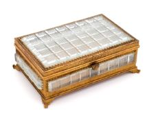 A CHARLES X BACCARAT BOX WITH ORMOLU MOUNTS Baccarat crystal, gilt bronze mounts, chiselled with