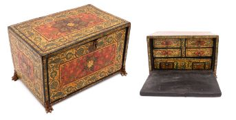 AN ORIENTAL CABINET BOX With six drawers, decoration with mother of pearl inlays and several