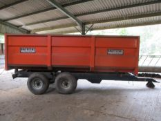 GRIFFITHS 10T TIPPING TRAILER