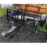 7' X 4' TRAILER CHASSIS ON AXLE
