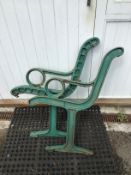 1 PAIR HEAVY CAST BENCH ENDS