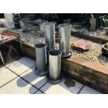 4 LARGE ELTEX POULTRY FEEDERS