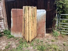 "27 FENCE POSTS 5'6"" X 4"" TOP"