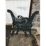 1 PAIR OF CAST BENCH ENDS