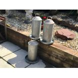 3 LARGE ELTEX POULTRY DRINKERS