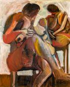 Alfred KornbergerWien 1933 - 2002 WienAkte sitzendÖl auf Leinwand / oil on canvas101 x 81 cm1985WV-