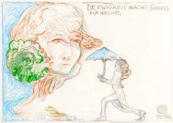 Günter BrusArdning 1938 *PHANTOM-PALÄSTE (Bildgeschichte in 5 Tafeln / comic strip on 5 panels)