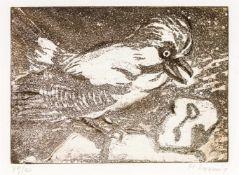 Maria LassnigKappel am Krappfeld 1919 - 2014 WienOhne Titel (Komposition mit Vogel)Radierung auf