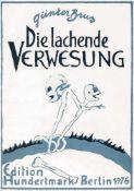 Günter BrusArdning 1938 *Die lachende Verwesung (Bildgeschichte in 11 Tafeln, Leporello)