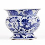 Chinese Dragon Blue and White Porcelain Vase