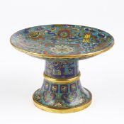 Chinese Imperial Mid-Qing Cloisonne Ritual Dish