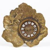 New Haven Clock Co. Lily Pad Frog Metal Clock