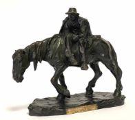 Heinz Müller, Bronzeskulptur eines ermüdeten Reiters