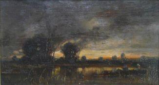 Adolf Stademann, Fischfang im Abendrot