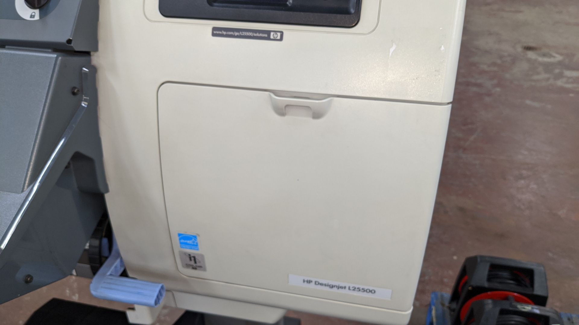 Lot 204 - HP DesignJet L25500 wide format printer, serial no. MY0482900B, product no. CH956A/CH956-64001