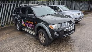 WR07 VYC Mitsubishi L200 Warrior Di-D Double Cab 4x4 pick-up, 5 speed manual gearbox, 2477cc diesel