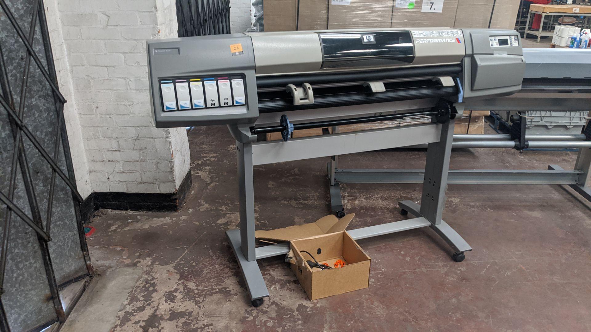 Lot 26 - HP DesignJet 5000 wide format printer, factory model C6090Z, model no. C6090A