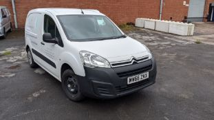 MW66 ZKX Citroen Berlingo 625 Enterprise Blue HDI panel van, 5 speed manual gearbox, 1560cc diesel e