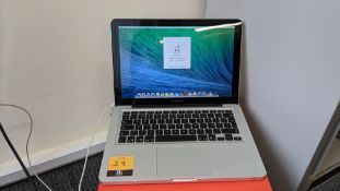 Apple Macbook Pro model A1278 notebook computer with 2.5GHz core i5 (i5-3210m), 8Gb RAM, 500Gb HDD i