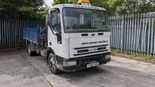 T546 POC Iveco Ford 75E15 7.5ton tipper with hi-ab, 6 speed manual gearbox, 5861cc diesel engine. C
